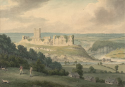 SW view of Richmond Castle. Yorks.